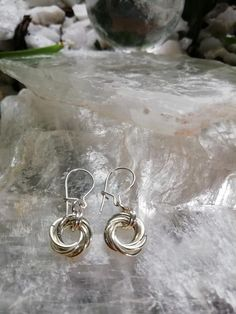 Sterling Silver 925 Mobius Earring #Earring #Mobius #Chainmaille 925 Silver, Silver Jewelry, Silver Rings, Sterling Silver, Unique Jewelry, Silver Drop Earrings, Hoop Earrings, Simple Earrings, Chainmaille