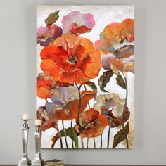 Uttermost Delightful Poppies Floral Art