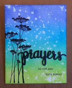 Sympathy Cards, Greeting Cards, Hero Arts Cards, Lavinia Stamps, Distress Oxide Ink, Beautiful Handmade Cards, Prayer Cards, Color Blending, Tim Holtz