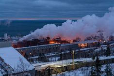 The iron ore plant along the shore of Lake Superior in Silver Bay, Minnesota Silver Bay, Iron Ore, Lake Superior, North Shore, Minnesota, Plants, Plant, Planets