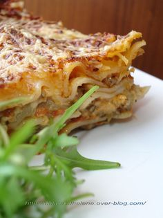 LASAGNES VEGETARIENNES A LA CREME DE PARMESAN ( Très bon avec la sauce tomate séchée. Niveau herbes, persil, marjolaine, herbes de Provence. La sauce parmesan coûte cher, mais c est une tuerie !!! )