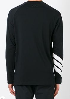 Y-3. long sleeve top with laid on stripes