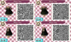 Black Lace Dress - Animal Crossing New Leaf QR Codes