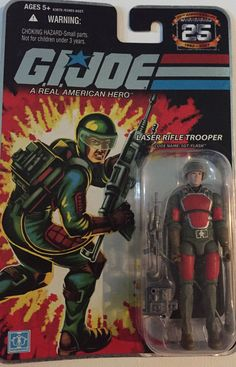 "GI Joe Laser Rifle Trooper Sgt. Flash 4"" Action Figure 2007 25th Anniversary #Hasbro"