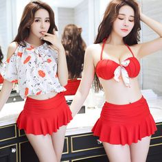 $26.53 (Buy here: alitems.com/... ) Plus Size Swimwear Women Retro Swim Suit Bathing Suits Beach Wear Swim Wear Woman Swimsuit 2016 New Bikini Girl Girl Maillot De for just $26.53