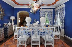 COLORFUL DINING ROOM - eclectic - dining room - new york - Kenneth/Davis, Inc.