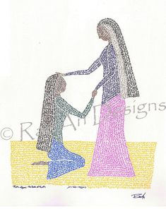 Micrography Print Ruth & Naomi by RaeAn on Etsy, $40.00