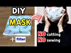 How to make a mask with a handkerchief, a filter-replaceable mask, and n. Diy Mask, Diy Face Mask, Face Masks, Mask Making, Making Out, Mask Korean, Emergency Preparedness Kit, Armor Of God, Youtube
