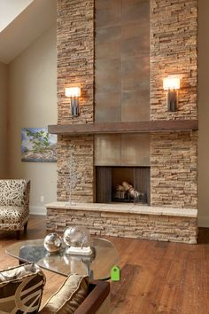 modern stone fireplace wall ideas - Google Search | Fireplace Wall ...
