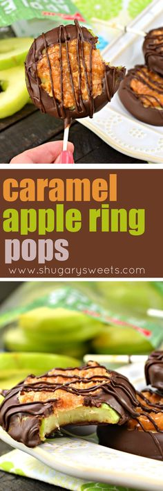 Capture the delicious chocolate, caramel, and coconut flavor of your favorite cookie in this fun, Caramel Apple Ring Pops recipe! Great for snacking, dessert, or bake sales!