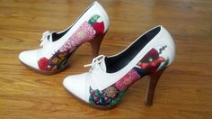Hand Painted Pumps with Swarovski Crystals. $65.00, via Etsy.