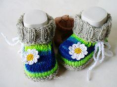 Strick- & Häkelschuhe - Babyschuhe Babystiefel  - ein Designerstück von strickliene bei DaWanda
