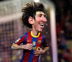 301 goles del astro argentino Lionel Messi como futbolista profesional, de los cuales 270 los ha conseguido con el Barcelona (182 en la liga española, 20 en la copa del rey y 53 en la UEFA champions league) ademas de 31 en partidos internacionales jugando con el seleccionado de su natal Argentina, un récord impresionante, porque ademas le falta m