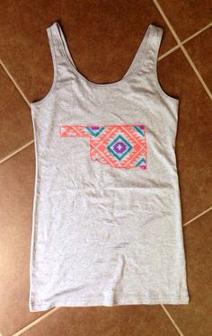 Ladies tank dress Oklahoma Navajo print tee by YOStees on Etsy, $26.99