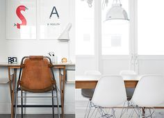 Another piece of furniture I would love to have. Charlotte Perriand Les Arcs chair (left)