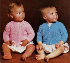 2 BABY CARDIGANS  Girls & Boys Birth to 24 by KenyonDownloadBooks