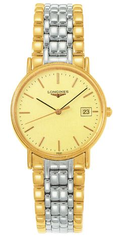 L4.720.2.32.7, L47202327, Longines presence two tone gold watch, mens