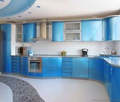 Blue is always define as a nice color and many of us like to paint boys room in blue and as you know blue kitchen is very classic . For a modern positive look and positive energy in every home,a kitchen should be designed with blue or some blue products should be used inside the …