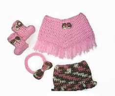 Baby Girl Pattern  PDF Pattern Only   Soft, Pink and pretty baby poncho pattern and complete set. Basic crochet skills only, to make this adorable little outfit for any little baby girl. The pattern is written in US terminology.