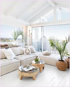 Australian Hamptons Style House With Ocean Views! How amazing is this stunning feature window with Hamptons style bifold doors leading onto deck with ocean front views! 🍃 😍 We are loving this stunning Australian. Coastal Homes, Coastal Living, Coastal Style, Modern Coastal, Cozy Living, Coastal Bedrooms, Florida Living, Bedroom Modern, Modern Country