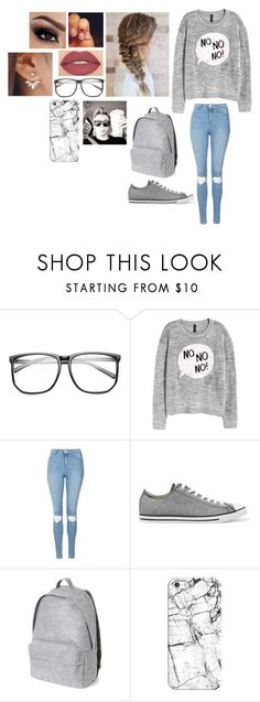 """""""Sin título #379"""" by burusa2 ❤ liked on Polyvore featuring H&M, Topshop, Converse, Casetify and Smashbox"""