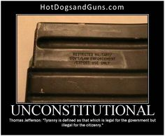 """Unconstitutional: Thomas Jefferson: """"Tyranny is defined as that which is legal for the government but illegal for the citizenry."""""""