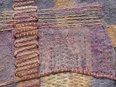Stitch Sample- detail, via Flickr.  beautiful colors . . . by Fiona Rainford