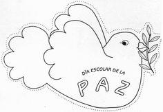 Dibujos para colorear del día de la Paz. Para conmemorar el día de la paz te proponemos estos dibujos para colorear y crear un mural
