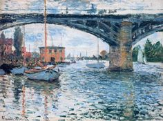 Claude Monet — The Bridge at Argenteuil, Grey Weather, 1874,...