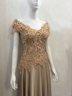 Mother of The Bride dress// lace Occasion Dress by LeCasaDress Bridal Dresses, Prom Dresses, Formal Dresses, Brown Dress, Dress Lace, Occasion Dresses, Mother Of The Bride, Nice Dresses, Evening Dresses