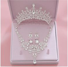 Rhinestone Crystal Bridal Jewelry Sets Necklaces Earrings Tiaras Sets African Beads Jewelry Sets Wedding Engagement Jewelry-in Bridal Jewelry Sets from Jewelry & Accessories on AliExpress Wedding Jewelry Sets, Engagement Jewelry, Wedding Sets, Wedding Engagement, Wedding Necklaces, Christmas Engagement, Bridal Jewellery, Handmade Jewellery, Wedding Bands