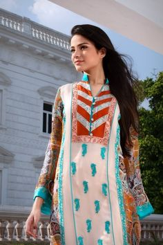 lawn for summer - pakistani clothes