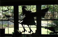 witch in the window    Silhouette on poster board.