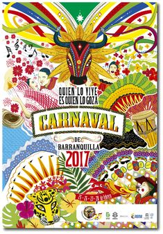 Programación del Carnaval 2017 Colombian Art, Folk Fashion, Metal Crafts, Carnival, Joy, Colours, Cartoon, Drawings, Illustration