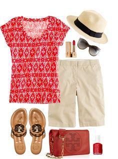 """Vacation outfit"" by handbagaficionado ❤ liked on Polyvore."