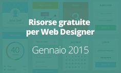 Risorse gratuite per Web Designer di Gennaio. Questa rubrica vuole essere uno spazio dove poter raccogliere le risorse più recenti e le nuove tendenze del web design: tutorial, siti per ispirarsi e tecniche CSS.