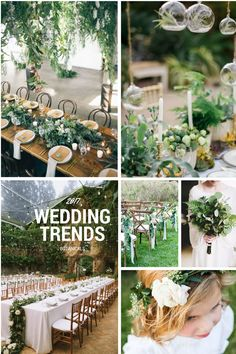 2017 Wedding Trends Greenery 2017 Wedding Color Palette
