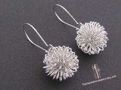 Dandelion Earrings Jewelry Drop Earrings by Thedandelionjewelry