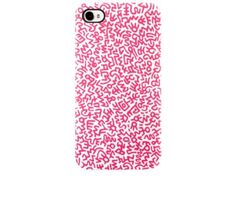 Keith Haring Graffiti Print Pink iPhone 4 / 4S Case - £22