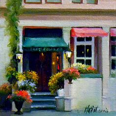 Diann Haist - Cafe Solange- Oil - Painting entry - October 2014   BoldBrush Painting Competition