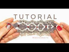 Micro Macrame Believe Heart Bracelet DIY♥ - YouTube