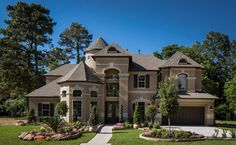 5814 Stratton Woods Dr, Spring, TX 77389 Beautiful homes Dream Home Design, My Dream Home, House Design, Fancy Houses, Big Houses, Dream House Exterior, Dream House Plans, Texas Homes For Sale, Dream Mansion