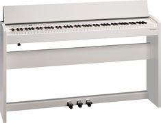 Roland F-140R: Digital Piano   F-140R adalah digital piano yang dibuat untuk kehidupan modern saat ini. Dengan desain kontemporer, kompak cocok digunakan pada apartemen yang kecil, serta dikemas dengan teknologi bermanfaat dari pendahulunya dalam pembaharuan digital piano. Pertama, Anda akan merasakan nada piano otentik, ekspresif yang luar biasa untuk instrument kompak dan terjangkau.