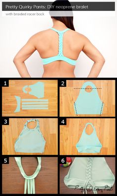 Instruction Layout - braided racer back bralet