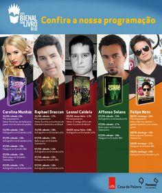 #Eventos: Agenda da Fantasy - Casa da Palavra para a Bienal Do Livro Rio http://www.leitoraviciada.com/2013/08/agenda-da-fantasy-casa-da-palavra.html