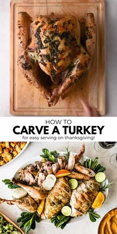 How to Carve a Turkey - Isabel Eats {Easy Mexican Recipes} - How to Carve a Turkey Learn how to carve a turkey with these easy step-by-step instructions, photos and video. Impress your guests this Thanksgiving, Christmas and holiday season! Thanksgiving Menu Planner, Healthy Thanksgiving Recipes, Holiday Recipes, Thanksgiving Videos, Thanksgiving Holiday, Thanksgiving Main Dishes, Thanksgiving Chicken, Best Thanksgiving Turkey Recipe, Easy Turkey Recipes