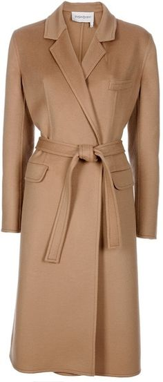 Yves Saint Laurent Camel Coat...timeless classic