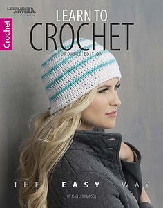 Learn to Crochet the Easy Way - You really, really want to learn to crochet. But you don't know anyone who can teach you. Can you learn, all by yourself, from a book? Yes, you can! Leisure Arts is pleased to re-introduce Learn to Crochet the Easy Way, an updated edition of the best-selling book by Jean Leinhauser of The Creative Partners LLC. Jean was a legend in the knit and crochet industry, known for her impressive contribution to the art of crochet and her talent for teaching and…