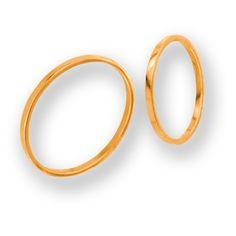 obrączki z czerwonego złota (OB 14) - szerokość 1,5 mm
