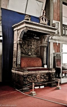 The throne of Emperor Haile Selassie at the National Museum of Ethiopia